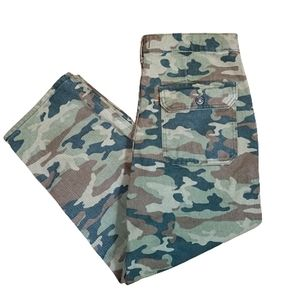 We the free camouflage cropped pants plus size 32
